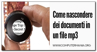 Come nascondere dei documenti in un file mp3