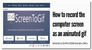 How to recording the computer screen into an animated gif