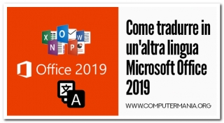 Come tradurre in un'altra lingua Microsoft Office 2019