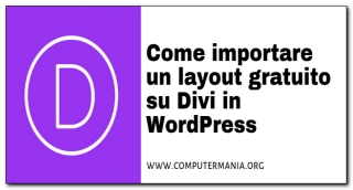 Come importare un layout gratuito su Divi in WordPress
