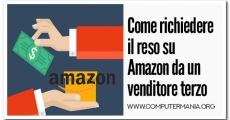 Come richiedere il reso su Amazon da un venditore terzo