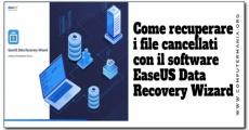 Come recuperare i file cancellati con il software EaseUS Data Recovery Wizard