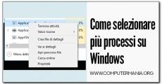 Come selezionare più processi su Windows