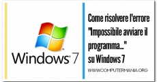 """Come risolvere l'errore """"Impossibile avviare il programma..."""" su Windows 7"""