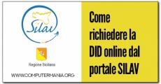 Come richiedere la DID online dal portale SILAV della Regione Siciliana