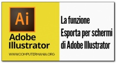 La funzione Esporta per schermi di Adobe Illustrator
