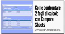 Come confrontare 2 fogli di calcolo con Compare Sheets