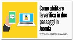 Come abilitare la verifica in due passaggi in Joomla