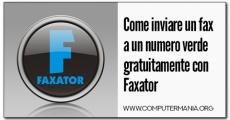 Come inviare un fax a un numero verde gratuitamente con Faxator