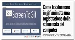 Come trasformare in gif animata una registrazione della schermata del computer