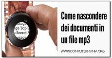 Come nascondere dei documenti in un file mp3