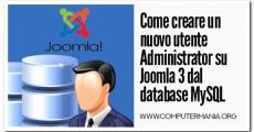 Come creare un nuovo utente Administrator su Joomla 3 dal database MySQL