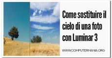 Come sostituire il cielo di una foto con Luminar 3