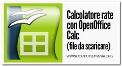 Calcolatore rate con OpenOffice Calc (file da scaricare)