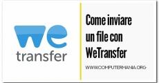 Come inviare un file con WeTransfer
