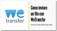 Come inviare un file con WeTransfer