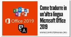 Come tradurre in un'altra lingua Microsoft Office 2019