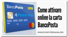 Come attivare online la carta BancoPosta