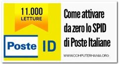 Come attivare da zero lo SPID di Poste Italiane