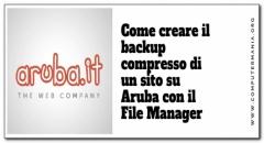 Come creare il  backup compresso di un sito su Aruba con il File Manager