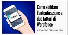 Come abilitare l'autenticazione a due fattori di Wordfence