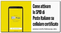 Come attivare lo SPID di Poste Italiane su cellulare certificato