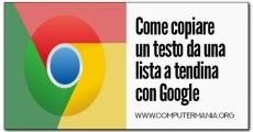 Come copiare un testo da una lista a tendina con Google Chrome
