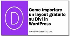 Come importare un layout gratuito su Divi in WordPress
