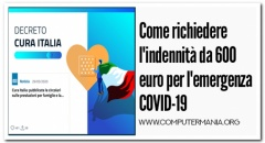 Come richiedere l'indennità da 600 euro per l'emergenza COVID-19