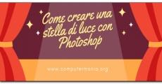 Come creare una stella di luce con Photoshop